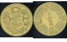 PEROU  1/2  sol de oro 1935  ( bis )