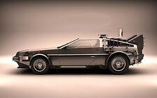Incorniciato stampa-la DeLorean da Ritorno al futuro (PICTURE BLU-RAY FILM in DVD)