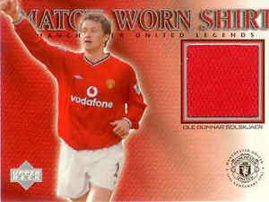 2002 UD Manchester United Legend Trading Card Jersey Card Ole Gunnar Solskjaer