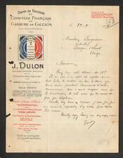 """TOULOUSE (31) COMPTOIR FRANCAIS de CARBURE de CALCIUM """"J. DULON"""" en 1924"""