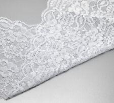 4.6m Dentelle tissu élastique blanche 15cm