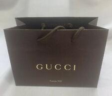 "Gucci Brown Paper Gift Shopping Bag 9"" x 3.75"" x 6.5"" Firenze 1921 (lot of 5)"