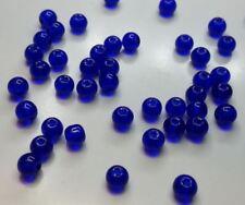 30 perles en verre ronde 6mm bleu nuit //1