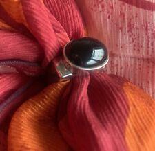 SILPADA R0995 STERLING SILVER & ONYX RING ~ size 6 ~ HTF