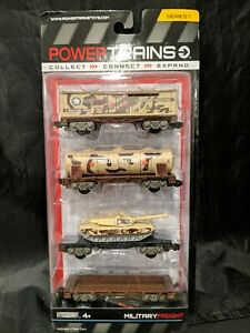 Power Trains Series One Military Freight Includes 4Train Cars