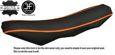 GRIP & CARBON ORANGE STRIPE CUSTOM FITS KTM 690 SMC R ENDURO 10-16 SEAT COVER