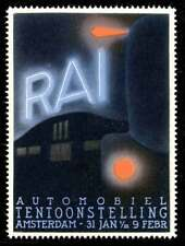Netherlands Poster Stamp - 1932 Auto Exhibition