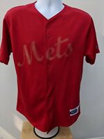 Vintage Red Majestic New York Mets MLB Jersey - Small, Retro, Rare