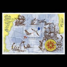 Tristan da Cunha, Sc #195, MNH, 1974, S/S, Sea Gulls, Penguins, Ship, 231*F