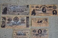 Confederate Replica Currency Money Antiqued 3rd Set Civil War Reproduction