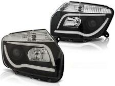 LED HEADLIGHTS LPDA02 DACIA DUSTER 2010 2011 2012 2013 2014 TUBE LIGHT BLACK
