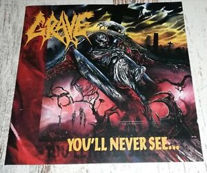 GRAVE You'll Never See... FIRST PRESS 1992 CENTURY MEDIA RECORDS No Ifpi UTUMNO