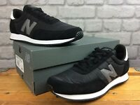 NEW BALANCE 720 MENS UK 9 EU 43 BLACK NYLON SUEDE TRAINERS RRP £65   EP