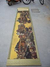 "80""China Restoring Ancient Ways Painting jiangnan city landscape scroll paintin"