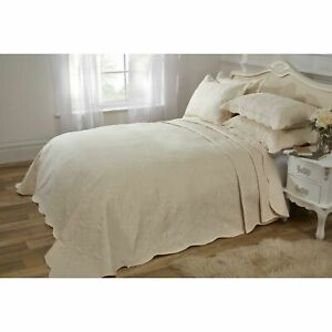 Emma Barclay Athena Paisley Motif Bedspread - Quilted - Set - Cream - Double Bed
