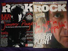 Classic Rock LED ZEPPLIN x2 magazine Jimmy page Robert Plant Jan 04 apr 09