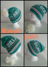 NEUF BILLABONG Bonnet DAMES ENFANTS pompon vert blanc polyacrylique