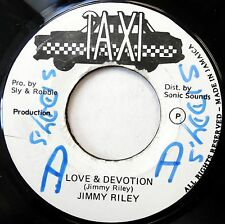 JIMMY RILEY 45 Love & Devotion / Drunking Master VG++ Reggae TAXI c1542