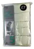 Ex M&S Lingerie Cotton Lycra Low Rise Shorts 5Pack Marks & Spencer UK8-22 Ladies
