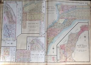 1930 POINT PLACE LARCHMONT GARDENS TOLEDO OHIO 36TH ST TO OTTAWA RIVER ATLAS MAP