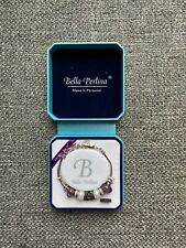Bella Perlina Bracelet, White and Purple Beads, Brand NEW