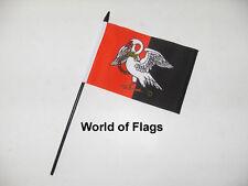"BUCKINGHAMSHIRE SMALL HAND WAVING FLAG 6"" x 4"" County Crafts Table Desk Display"