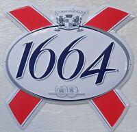 PLAQUE METAL publicitaire bière 1664 KRONENBOURG  - 40 x 40 cm