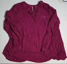 Free People Womens Button Down Tunic size XS in purple