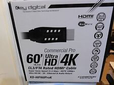 KEY DIGITAL - KD-HIFI60PROK  60 Feet (18.3 M} Rated HDMI CABLE CL3/FT4, 4K