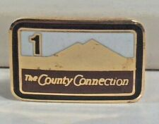 """Vintage County Connection 1 Transit Bus Lapel Pin 3/4"""" Contra Costa Ca"""