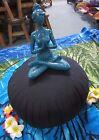 Zafu Meditation Cushion Black Filling 100% Kapok Made in Thailand