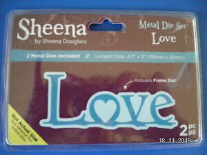 Beautiful Sheena Douglas Cutting Die by Crafter's Companion 'Love ' (D6)