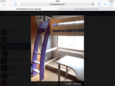 Cresta scallywag High Sleeper Bed Purple/White Très bon état