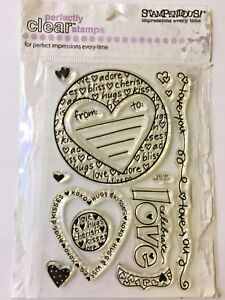 Stampendous Valentine Clear Stamps - Celebrate Love - SSC168 - NEW