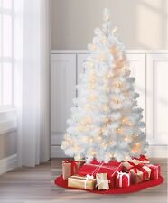 White Indiana Spruce 4' Artificial Pre-Lit  Christmas Tree - Clear  Lights