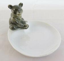 Coupe en Porcelaine Petite Statue Ours Centre de Table Vintage Kopenh Danois R61