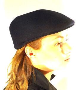 Flat Cap New Navy Blue 100% Wool Felt Hat Lightweight Countrywear
