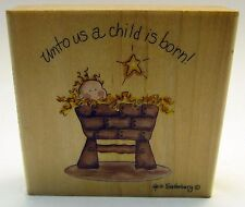"Stamps Happen ""Unto Us a Child is Born"" #60041 Heidi Satterberg"