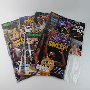 Sports Illustrated Magazine 1980s NBA Basketball Los Angeles Lakers Lot Of 8