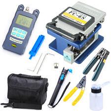 18pcs Fiber Optic Ftth Tool Kit Fc 6s Cutter Cleaver Optical Power Meter Bag