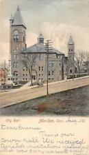 City Hall, Meriden, Connecticut 1903 Hand-Colored Vintage Postcard