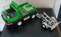 Vintage 1978 Playmobil Green Tow Truck And Trailer ** Rare ** Incomplete **