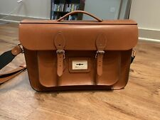 NWOT The Leather Satchel Company-15 inches Briefcase - London Tan - Made In UK