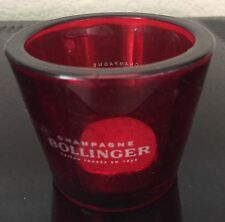 BOLLINGER CHAMPAGNE  RED GLASS VOTIVE TEALIGHT WINDLICHT BOUGIE HOLDER X 1 NEW