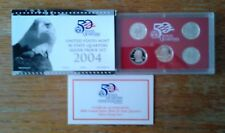 2004 US Mint Silver Quarters Proof Set--5 Coins--in OGP with COA