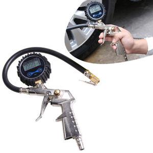 Car Air Tire Tyre Inflating Gun High Accurate LCD Digital Pressure Dial Gauge