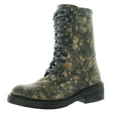 Free People Womens Santa Fe Black Combat Boots Shoes 38 Medium (B,M) BHFO 3111