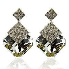 New Fashion Jewelry Square Crystal Earings Luxury Sparkling Big Drop Earrings KI