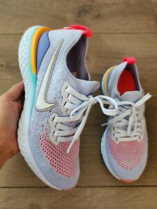 Nike Epic React Flyknit 2 Multicolor Running Shoes Size 5Y 6.5W NWOB AQ3243-414