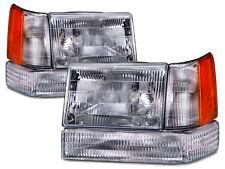 Headlamps Corners Park/Signal 6 Pc Set Fits 97-1998 Jeep Grand Cherokee